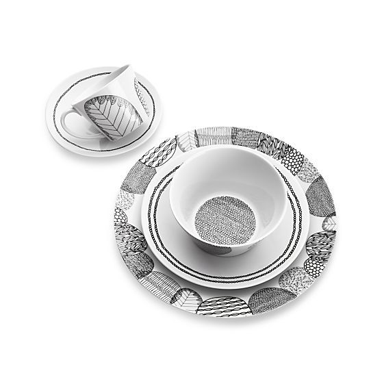 Leif Dinner Plate | Crate and Barrel