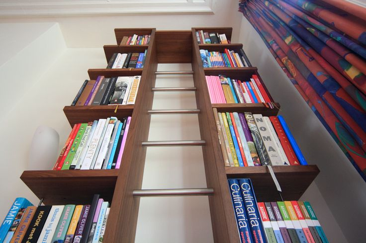 """Stairway To Heavenly Taste"". Bookcase for cookbooks."