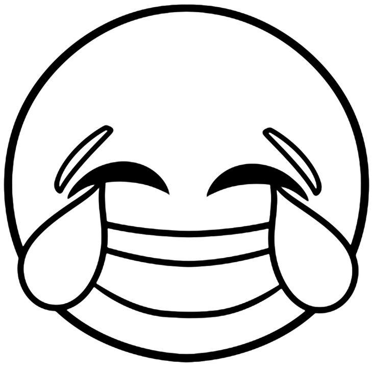 Black Emoji Coloring Pages