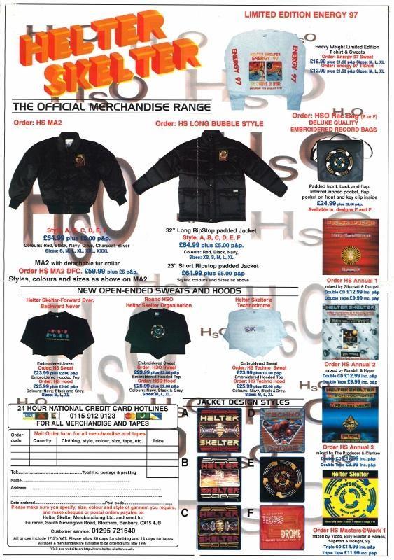 Helter Skelter Merchandise 1998 January - Hardcore Flyers