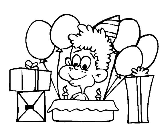 cake and happy birthday coloring pages for boys birthday - Coloring For Boy