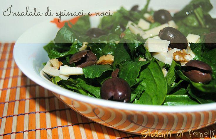 insalata di spinaci e noci ricetta spinaci crudi
