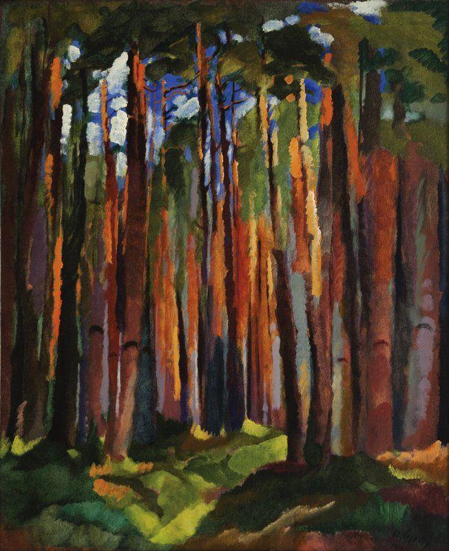Otakar Nejedlý | Vnitřek lesa, 1915, 90×75 cm