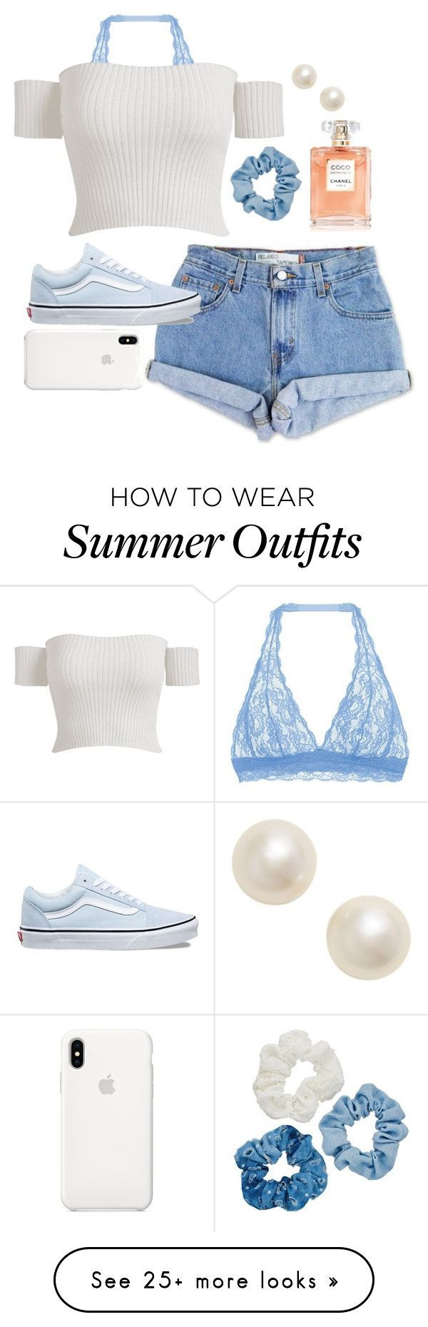"""Summer Outfits : """"summer vacation ( daily outfit #1 )"""" by lizaloch55 on Polyvore featuring Cosabe…"""