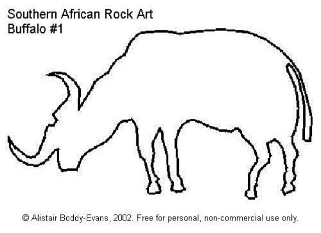 Southern African Rock Art: Buffalo #1