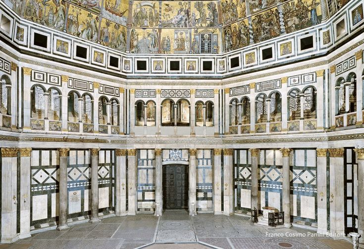 Interno del Battistero di San Giovanni, Firenze, lato est e i lati adiacenti