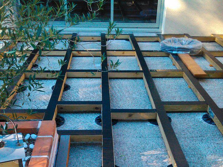 feutre geotextile sur terrasse bois