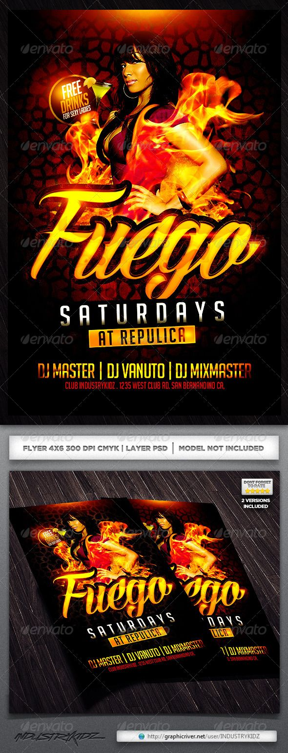 17 best images about print templates fonts flyer fuego saturdays flyer template fuego saturdays flyer template super easy to edit text and elements