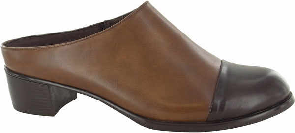 Carroll M310228-523 Tan leather with brown leather mule.