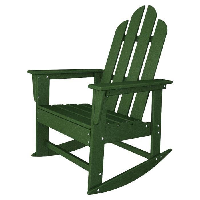 Long Island Adirondack Rocking Chair in Green