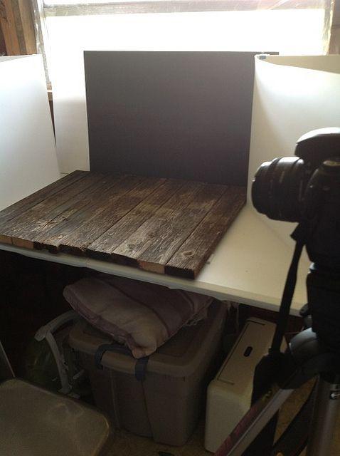 Food photography setup.