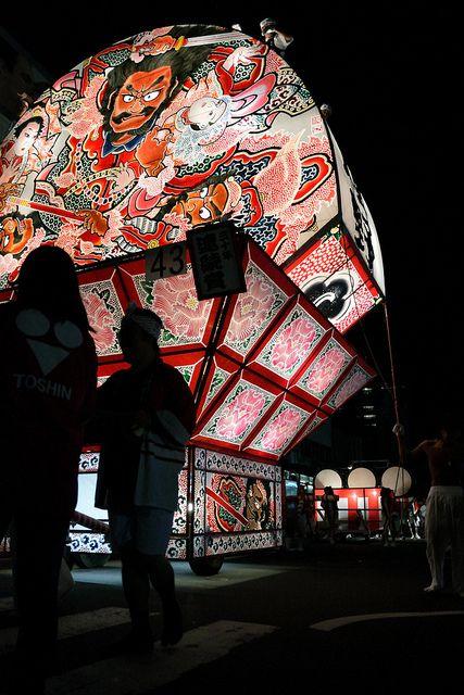 Nebuta float for Matsuri festival in Japan.