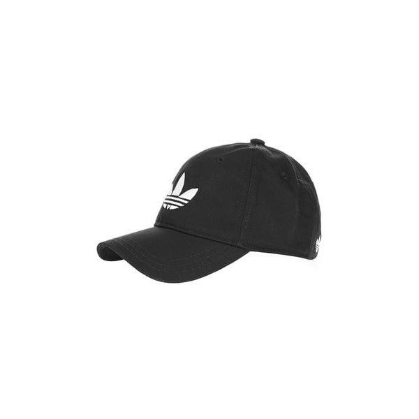 Trefoil Cap by Adidas Originals (30 CAD) ❤ liked on Polyvore featuring accessories, hats, black, cotton hat, cap hats, topshop hats and cotton cap