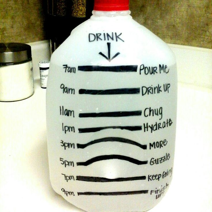 This is not my idea but this is my water jug. Take the challenge.