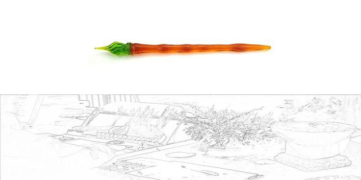 """20€ Glass Pen Dip pen Glasfeder Federhalter Füller mundgeblasen Schreibfeder handgefertigt Schreibgerät Venezianische Feder Unikat * """"Venetia"""" GF 277 von GlasfederBuchrose auf Etsy"""