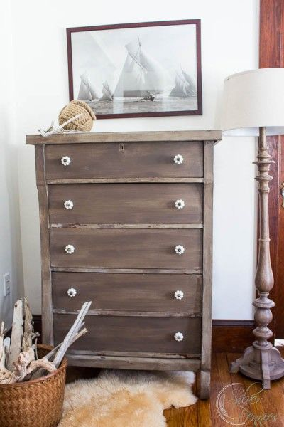 Painted Driftwood Dresser from Painting Silver Pennies  |  Friday Favorites from www.andersonandgrant.com