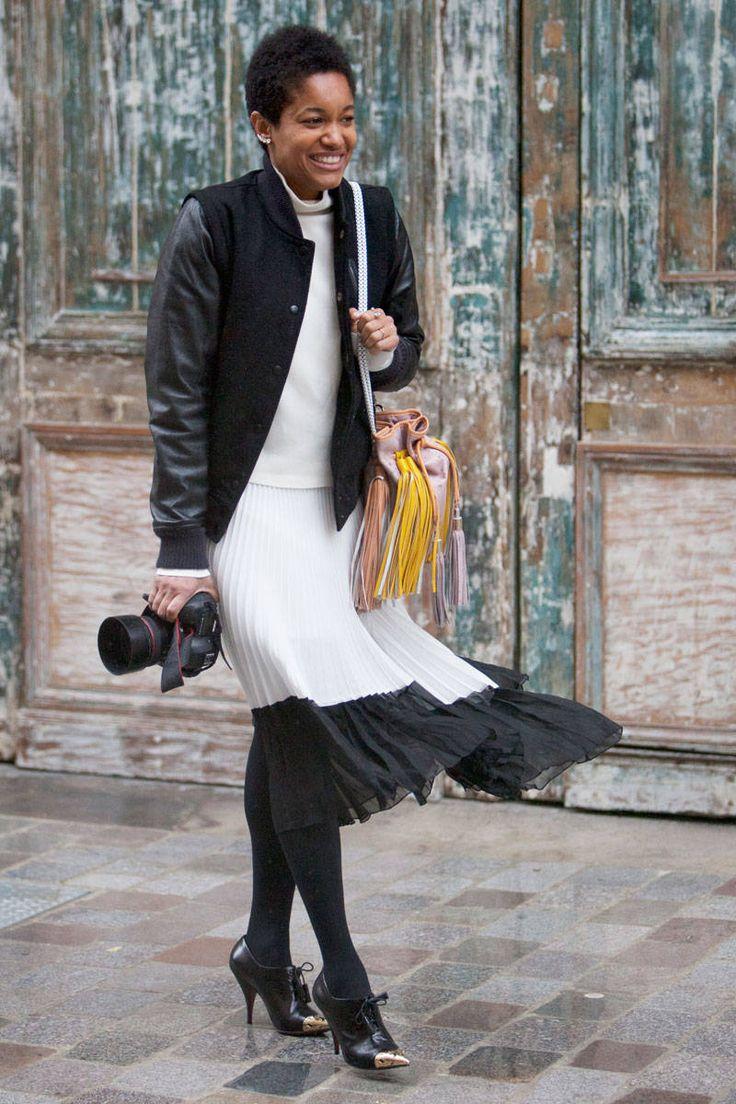 Street Style Paris Fashion Week 2014  - Street Style Photos from PFW - ELLE