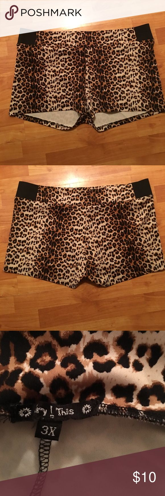 Cheetah Shorts Cheetah shorts in very good shape no snags or tears very stretchy and comfortable Swim Coverups