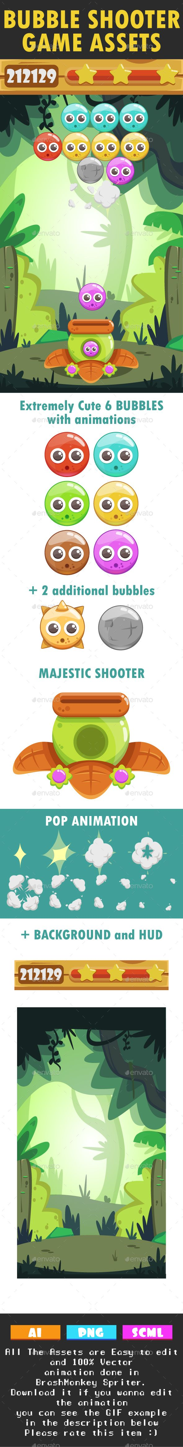 Bubble Shooter Game Kit - Game Kits #Game Assets Download here:  https://graphicriver.net/item/bubble-shooter-game-kit/18121236?ref=alena994