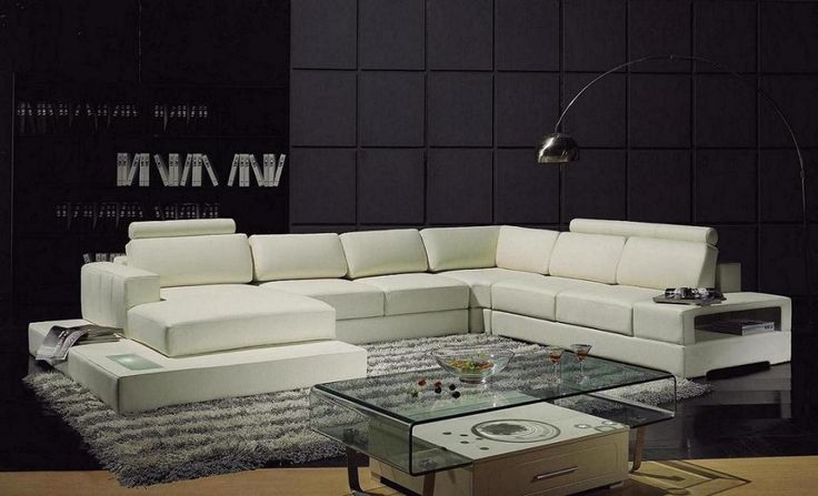 YIL T63 Contemporary Leather Sectional Sofa