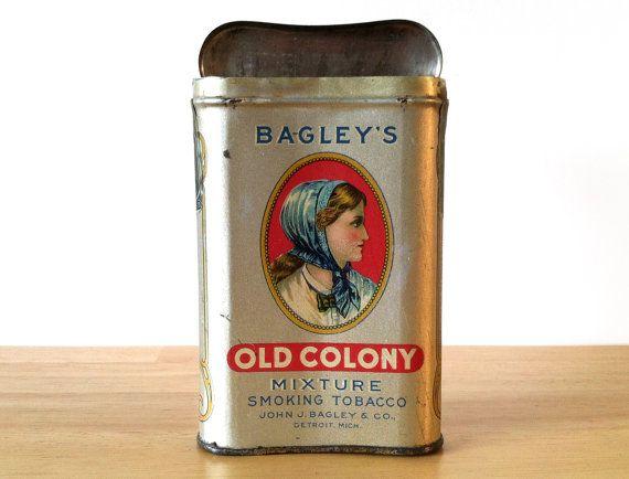 Vintage Bagley's Old Colony Pocket Tobacco Tin
