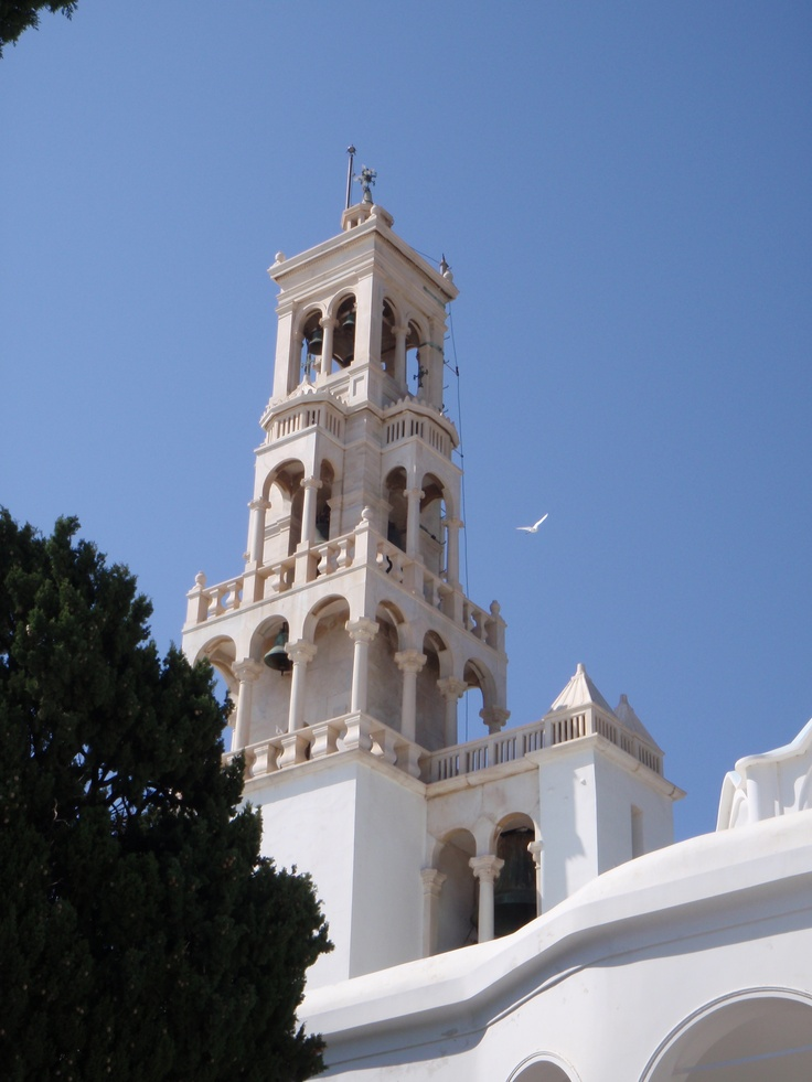 Still at the Church of Panagia Evangelistria on the island of Tinos. I was able to capture this dove flying near the steeple. It was wonderful to be able to be there.