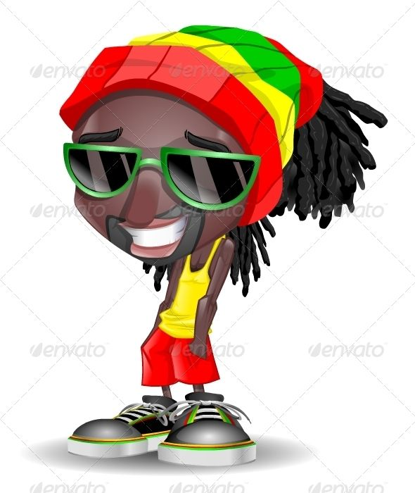 Cartoon Characters With Dreads : Rasta clipart boy graphicriver vectors characters