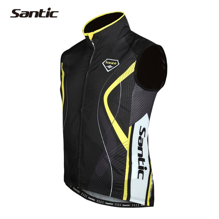 Santic Autumn Cycling Jersey Men's Cycling Clothing Chaleco Ciclismo Bike Bicycle Windproof Sleeveless Jersey Asian Size MC07012