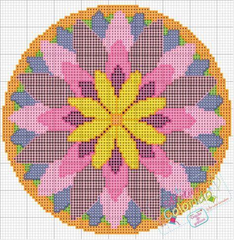Mandala+-+Flor+de+Lótus!-gráfico.bmp 887×908 pixels