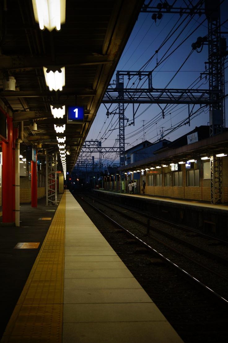 Train station shot in Japan