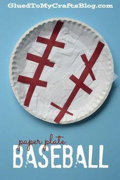 Paper Plate Baseball - Kid Craft
