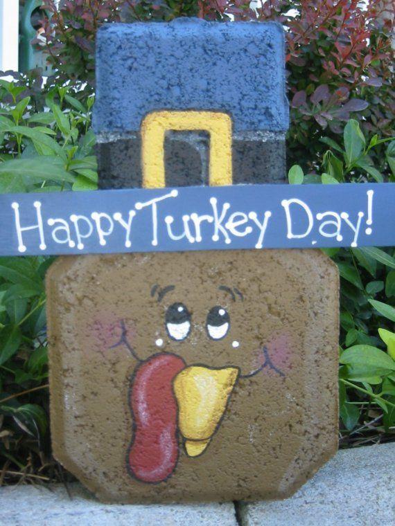 Turkey Happy Turkey Day Patio Person by SunburstOutdoorDecor, $20.00