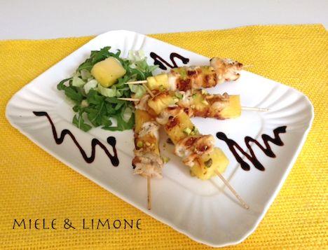 Spiedini di pollo e ananas - ricetta estiva