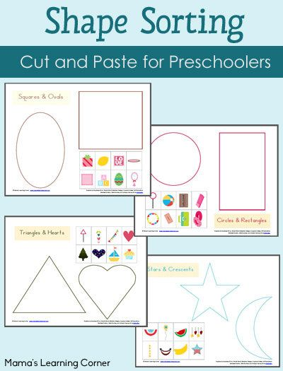 shape sorting printables packet shape cut and paste and activities. Black Bedroom Furniture Sets. Home Design Ideas