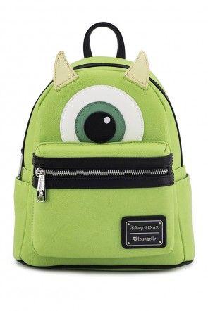Loungefly x Disney s Monster s Inc Mike Wazowski Character Mini Backpack  Key Lime d8781cdf03209