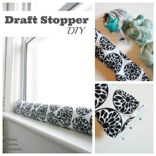 With a small piece of fabric and a few plastic bags, families can stay warm, save money and save energy this winter. A simple draft stopper diy tutorial.