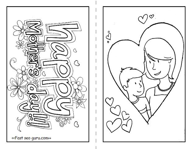 Happy Mothers Day Cards To Print And Color