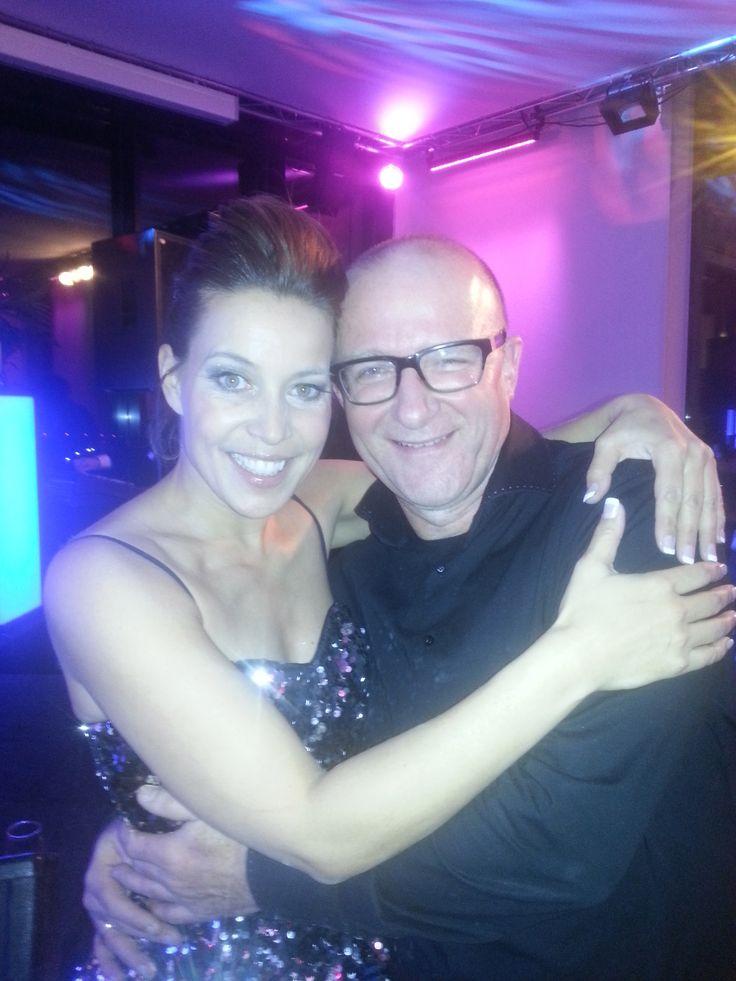 Met vriendinnetje Sandy Kandou tijdens Hengelo500 in Hengelo