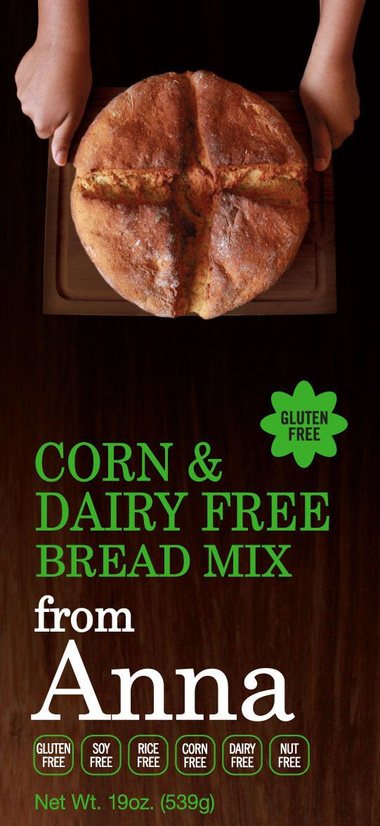 Breads from Anna — Gluten, Corn, Dairy, Soy, Nut & Rice Free Bread Mix #glutenfree
