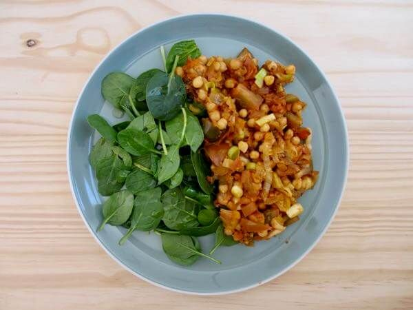 This Easy Chickpea Veggie 'Scramble' is a winner for busy meals. An easy, wholesome, hearty plant-based mix of chickpeas and a whole host of vegetables. Delicious warmed up on its own, alongside a green salad, or on a slice of sourdough toast. YUM!