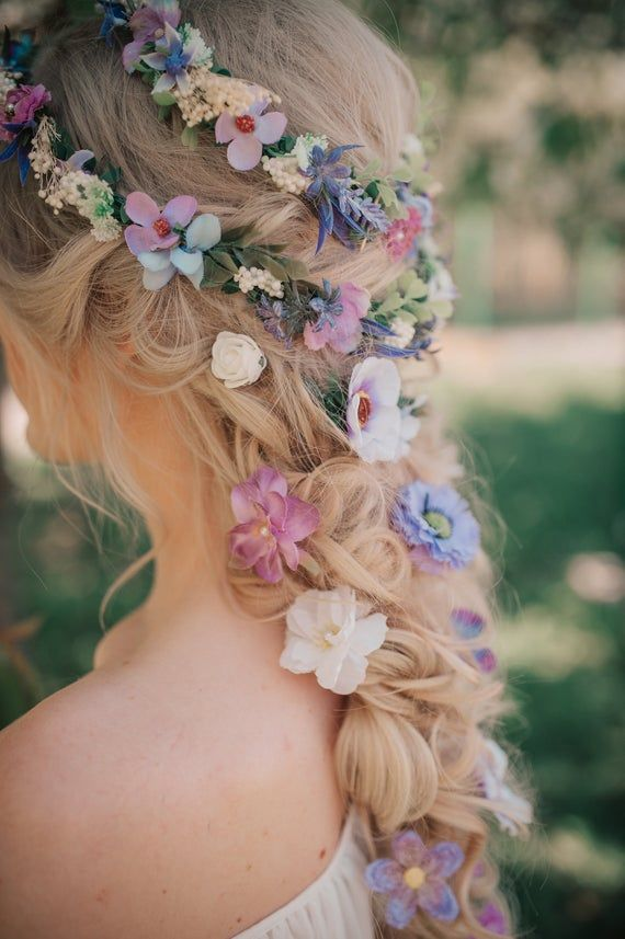 Romantic Purple Lavender Flower Wedding Hair Accessory Wedding