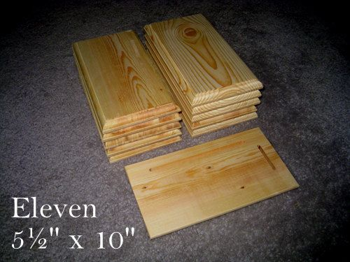 "11 Piece 5.5"" x 10"" Crafters Unfinished Wood Plaques Signs Bases"