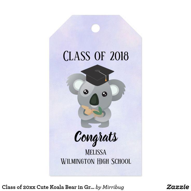 Class of 20xx Cute Koala Bear in Graduation Cap