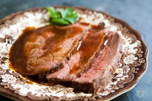 Slow Cooked Roast Beef Done the Italian way - comes out tender and delicious.