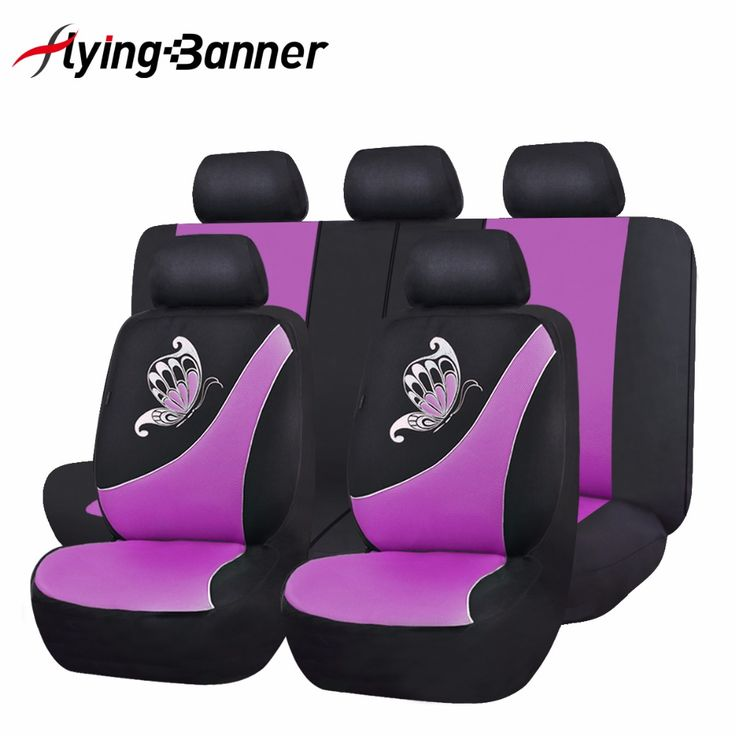 2017 New Car Seat Cover Butterfly Printing Pink Green Purple Universal Car Cover Seat Car Accessories Mesh Cloth Seat Covers