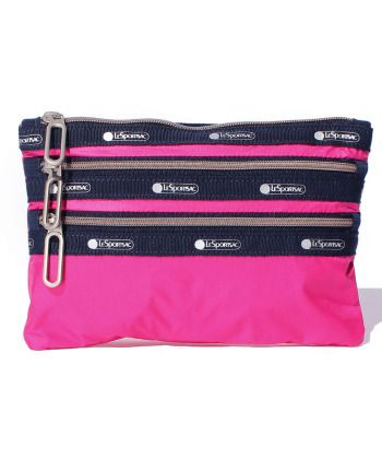 CLASSIC 3ZIP POUCH カリエンテ C   ポーチ     レスポートサック 公式通販   LeSportsac Online Store