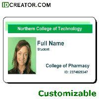 school id card template