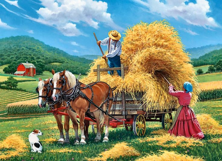 Artwork Of A Hay Farm In 2019 Kidsroom Art D 233 Cor 水彩 絵