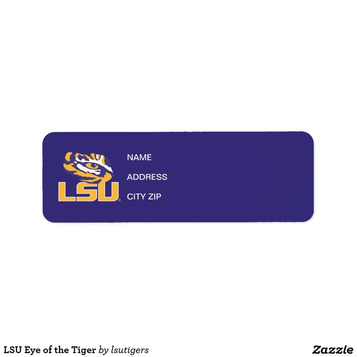 LSU Eye of the Tiger Label  Get your official Louisiana State University gear here! Personalize your own LSU merchandise on Zazzle.com! Represent your school spirit by customizing these products with your Class Year, name, club, or sport. This Louisiana State gear makes a great gift for graduating seniors, new students, or alumni looking to show off their Tiger Pride.