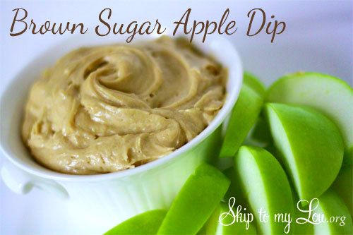 This is a crowd pleaser. Easy and fast Brown Sugar Apple dip recipe from Skip to my Lou